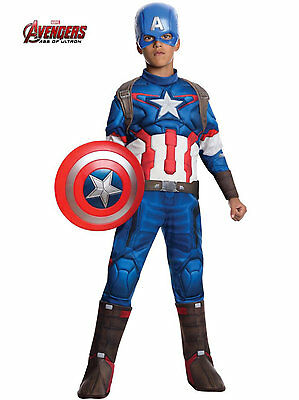 Captain America Boys Costume Size L Large Age 8 9 10 Avengers Age of Ultron