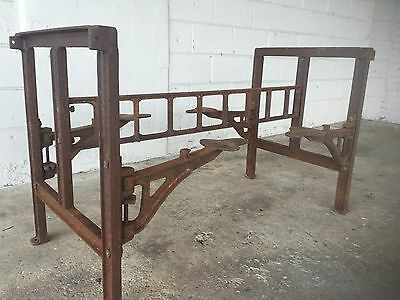 Antique Industrial 4 Swing out Stools Kitchen Island Table Cast Iron Vintage