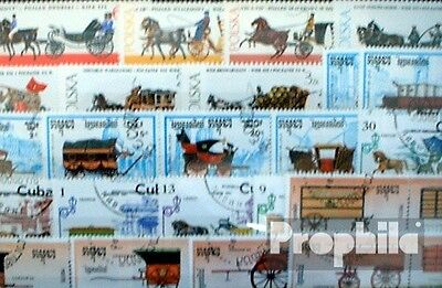 Motives 50 different Carriages stamps