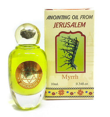Myrrh Anointing Oil Bottle Jerusalem Mirra Fragrance Oil Biblical Spices 10ml