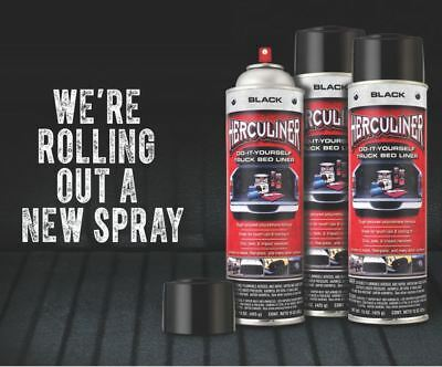 Herculiner 7m2 Spray 6x schwarz Beschichtung Bedliner DO IT YOURSELVE