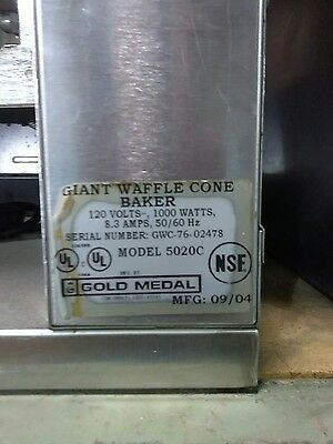 Commercial waffle cone maker