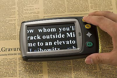 "Portable 6x-25x 4.3"" LCD Low Vision Electronic Digital Magnifier Reading Aid"