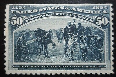 U.S.Stamps:Scott#240, 50c, Blue, The Columbian Exposition Issue of 1893, OGHR