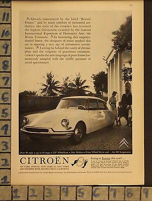 1959 Citroën French Car Auto Motor Family Drive Sport Vintage Ad  Zb81