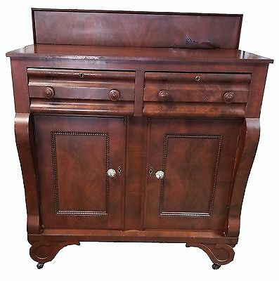 Antique American Empire Mahogany Sideboard Buffet Server c.1840-1860
