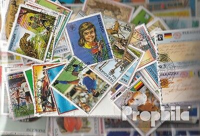 Paraguay 500 different stamps  in complete Expenditure