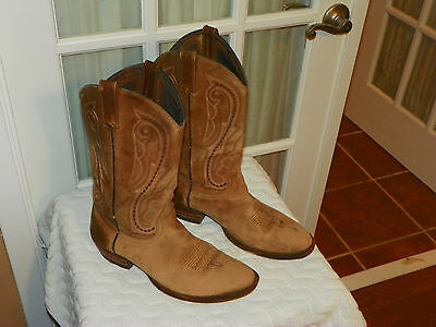 Ariat Men's Brown Leather Cowboy Western Boots ATS Size 10.5 D Style 53302