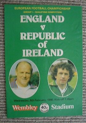 Programme-England V Ireland-European Football Championship -Feb 1980 at Wembley