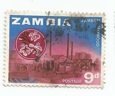 ZAMBIA early  Definitives  9d USED