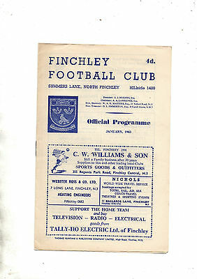 Amateur Cup:-FINCHLEY v ENFIELD 1962/3