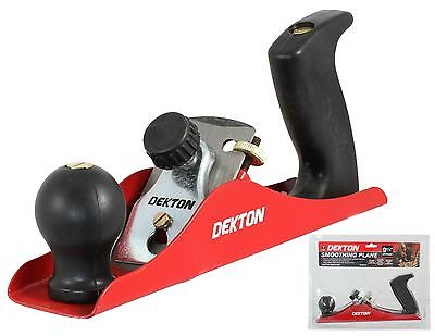 """Dekton Smoothing Plane 230mm Planer For Wood Smoothes Doors & Timber 9"""" DT40210"""
