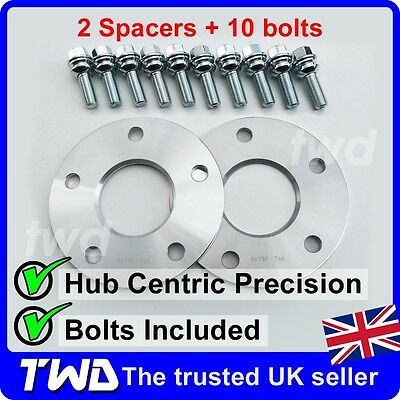 7Mm Alloy Wheel Spacer Kit + Bolts For Porsche Cayman 987 981 718 Shim [2A10P37]
