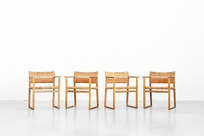 4 dining Chairs Armchairs Mod. BM 62 Børge Mogensen for Fredericia Danishdesign