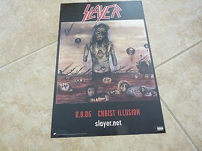 "Slayer 2006 Christ Illusion Double Sided Promo Poster 11"" x 17"" RARE!!"