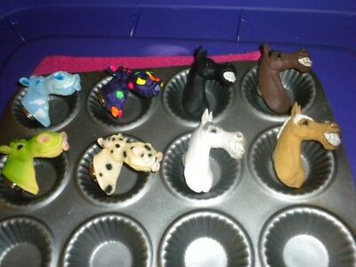 (8) Cute Funny Looking Cow & Horse Magnets For Collectors.conversation Pieces.