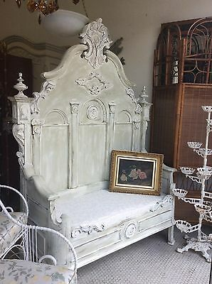 Huge Fabulous Victorian Heavily Carved Hall Seat Bench ~Ca.1860