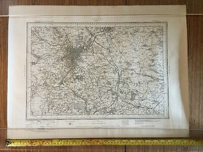 Old Antique Map 1898 Sheffield And Area