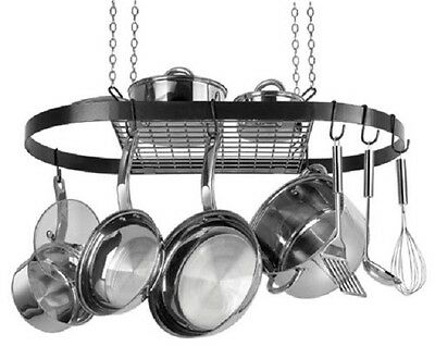 POT AND PAN ORGANIZER Hanging Rack Holder Pots Pans Lids Cookware Kitchen Dining