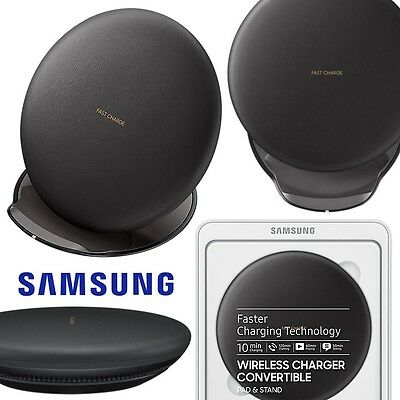Genuine Samsung Galaxy S8 S8+ Qi Wireless Convertible Charger Fast Charge Black