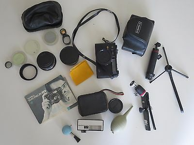 Yashica Electro 35 GT Black With Accessories WORKS very good condition