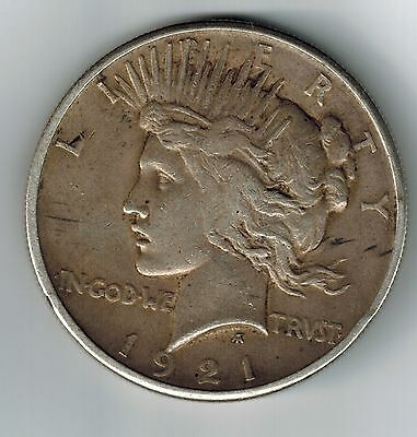 1921 PEACE DOLLAR, a VERY NICE High Relief COIN Key Date
