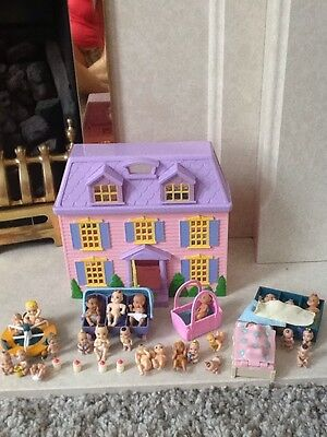 joblot baby dolls with dolls house toys