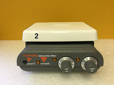 """Corning PC-420 25° to 480°C, 60 to 1200 RPM, 6""""x7.5"""", Hot Plate Stirrer. Tested!"""