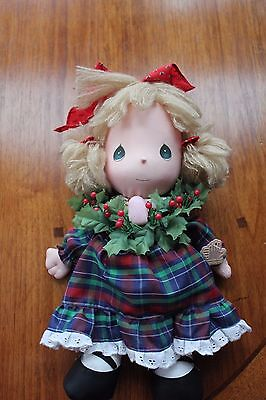 "Vintage Applause Precious Moments Doll ""Holly"" 1987 Christmas with tags"