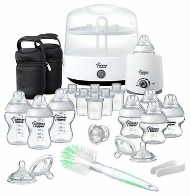 Baby Feeding Starter Set-Tommy Tippee Closer To Nature Complete,Bottles Sterile