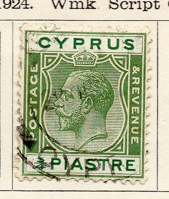 Cyprus 1922-23 Early Issue Fine Used 3/4p. 159276