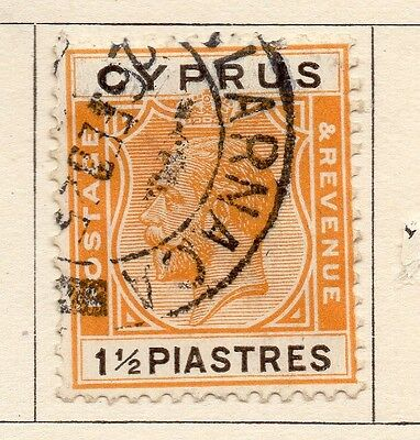 Cyprus 1922-23 Early Issue Fine Used 1.5p. 159277