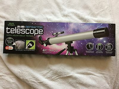 50x/100x Refractor Telescope With Adjustable Tripod Suitable Children 3+