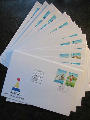Aland 1995 Tourism Set on 24 Different First Day Covers