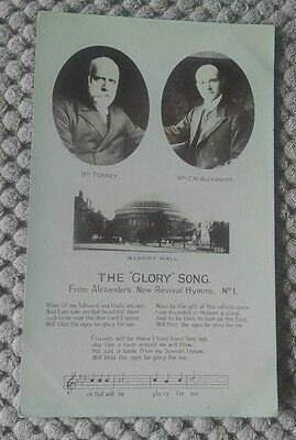 Vintage Religious Postcard. Glory Song No 2
