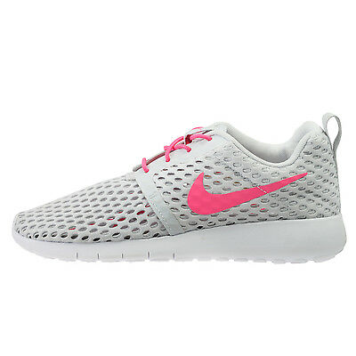 a4df8b97b907 Nike Roshe One Flight Weight Big Kids 705486-006 Platinum Pink Shoes Size 5