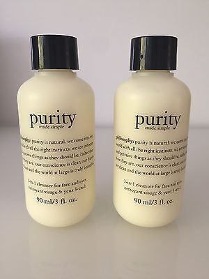 Philosophy Purity Made Simple 3 In 1 Cleanser 90ml x 2 NEW STOCK, SEALED, TRAVEL