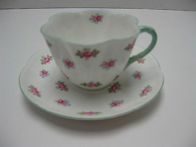 Shelley Rosebud Cup & Saucer Set Dainty Shape