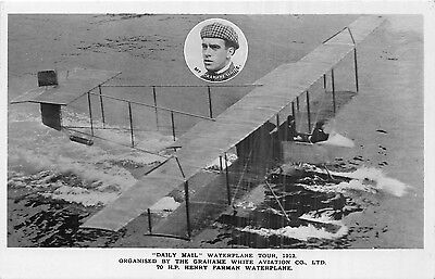 Postcard   Transport  Aviation  Daily  Mail  Waterplane  Tour 1912   Rp