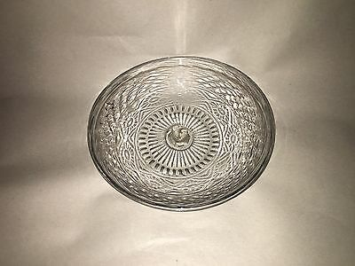 Antique Glass 3 Blown Mold Pan Dish Rolled Rim Ca. 1835 Pontil