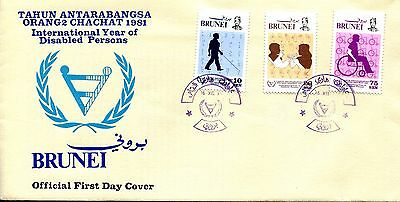 Brunei 1981 Year of Disabled Persons FDC