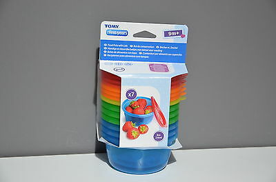 Tomy The First Years Large Food Pots with Lids 7 pack, 8oz / 236ml