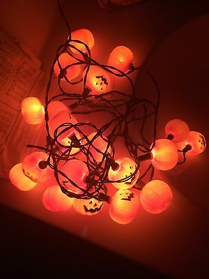 Vintage Halloween Pumpkin Blow Mold String Lights