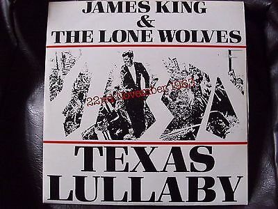 "(Rare) James King & The Lone Wolves 12"" Vinyl Record Texas Lullaby"