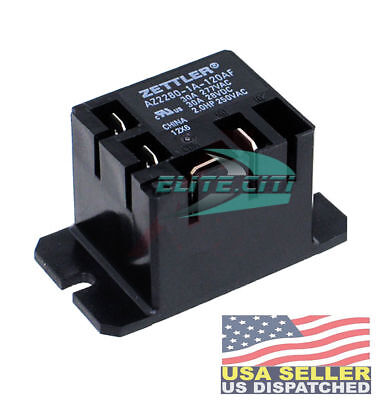 Zettler Mini Power Relay SPST 120V 30A AZ2280-1A-120AF New *