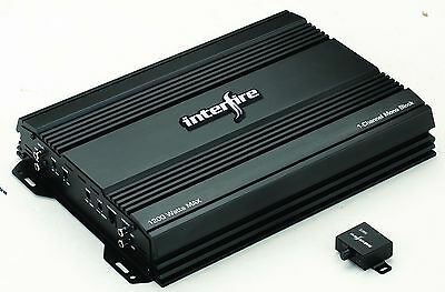 1ch. Mono Block Car Amplifier 1200watts (T-1000M) Referbished - interfire