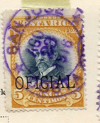 Costa Rica 1926-27 Early Official Issue Fine Used 5c. Optd 168136