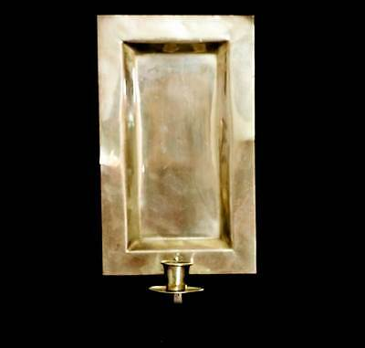 Vintage brass candle holder wall sconce