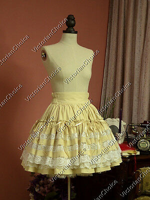 Victorian Lolita Tiered Skirt Cosplay Steampunk Women Halloween Costume K033