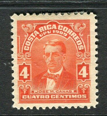 COSTA RICA;   1910 early Pictorial issue Mint hinged 4c. value